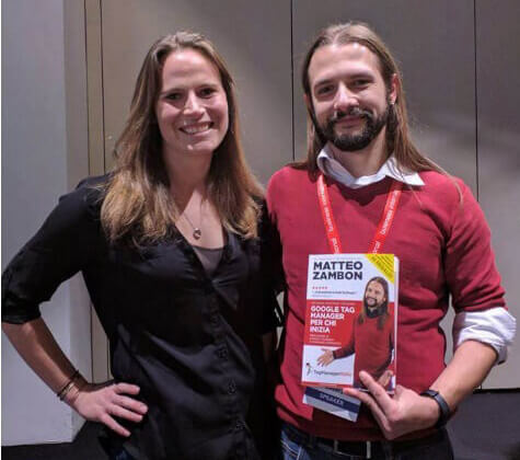 Krista Seiden with Matteo Zambon present the book 'Google Tag Manager for those who start'